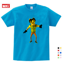 цена на 3-12 Years Boys and Girls Game Hello Neighbor Pattern T Shirt Kids Casual Funny T-shirts Baby Summer Short Sleeve 3T-9T T-shirt