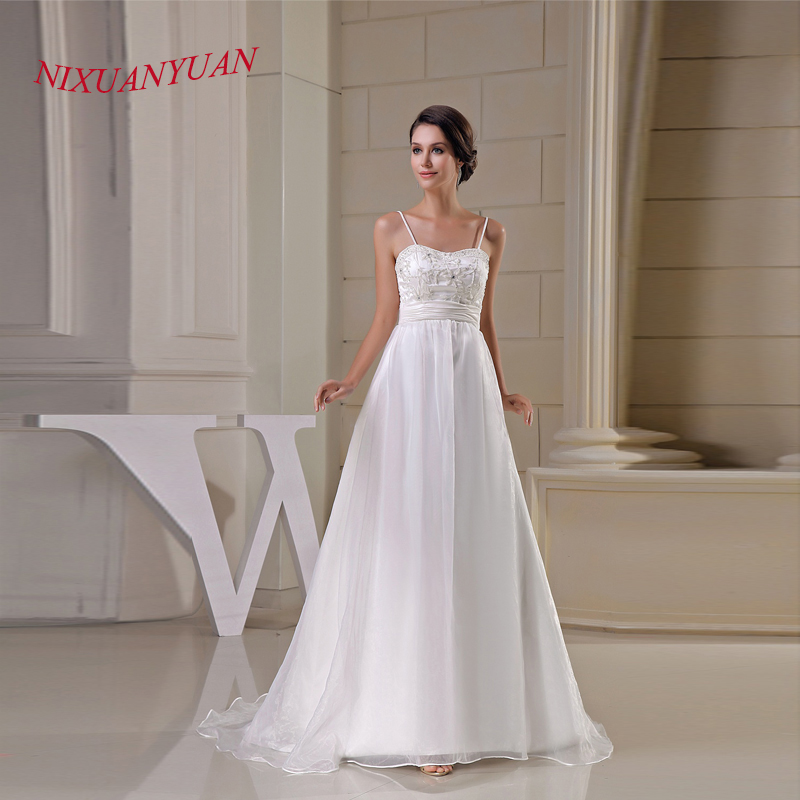 Nixuanyuan 2017 new elegant beaded bride wedding gown for A line wedding dresses 2017