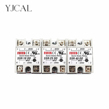 YJCAL Solid State Relay SSR-10DD SSR-25DD SSR-40DD 10A 25A 40A AC Control DC Relais 3-32VDC TO 5-60VDC SSR 10AA 25AA 40AA