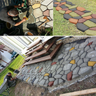 Garden Stone Walk Maker Mould DIY Path Maker Mold Manually Paving Cement Brick Molds Stone Road Concrete Molds Tool