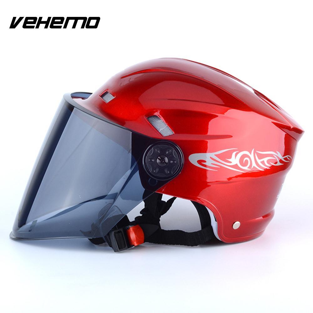 Vehemo Motorcycle Helmet Safety Hat Craniacea Half Duplex Racing Universal Sports Hats Outdoor Cycling Comfortable