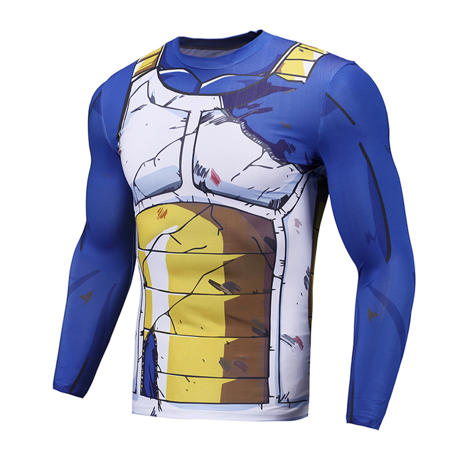Dragonball Compression Shirt Long Sleeve 3D T Shirts Cell