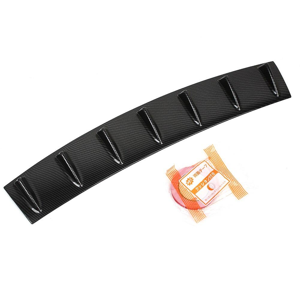 Углеродное волокно 7 крыло губы Акула плавник спойлер задний бампер дефлектор ABS шасси диффузор спойлер задний бампер шасси Акула плавник
