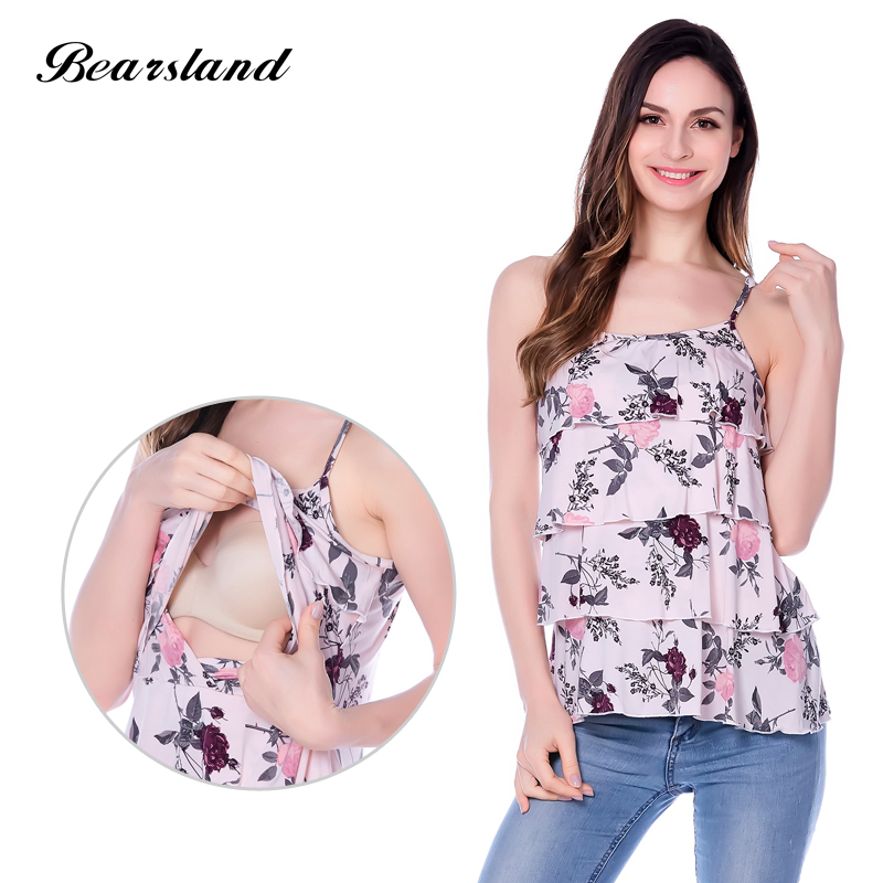 Maternity clothes nursing top Summer Tank Tees for Pregnant Women Breast Feeding Pregnancy Clothing
