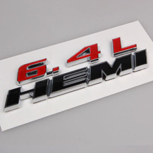 6.4L HEMI Car Trunk Badge Emblem Decal Sticker Fit For Chrysler Dodge Jeep Challenger Charger Car Styling Auto Decor Accessories