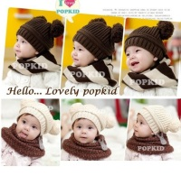 Cheapest Baby Beanies Crochet Handmade Ball Winter Hat Warm Girl Caps Skull Hat Hot Sale