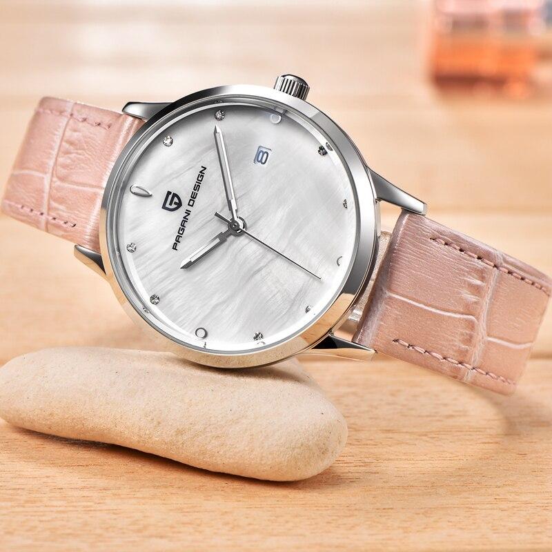 Роскошные PAGANI Дизайн бренда модные женские кварцевые часы Для женщин Водонепроницаемый 30 м основа Циферблат платье часы Relogio Feminino