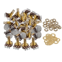 Yibuy 50x Gold B250K Coil Tap Electric Guitar Bass Potentiometers 18mm Shaft