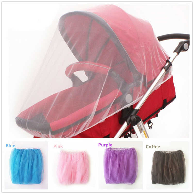 Baby Kids Stroller Pushchair Pram Mosquito Net Fly Insect Net Mesh Buggy Cover For Baby Children Stroller Mosquito Nets 5 Colors