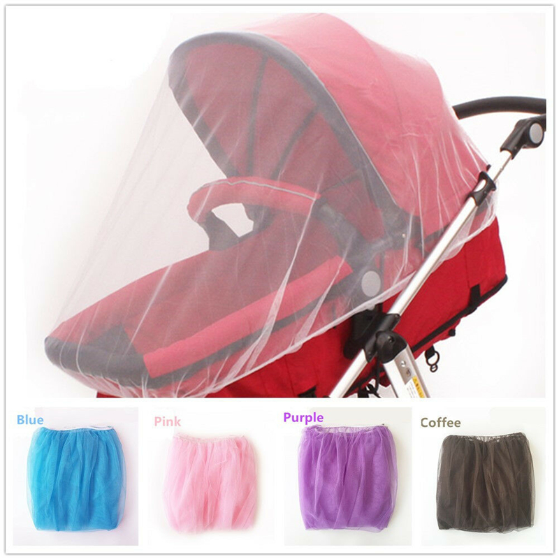 Stroller Pushchair Pram Mosquito Fly Insect Net Mesh Buggy Cover for Kids