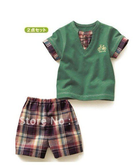 2012 New arrival boy's clothes sets in summer,baby suit sets ...