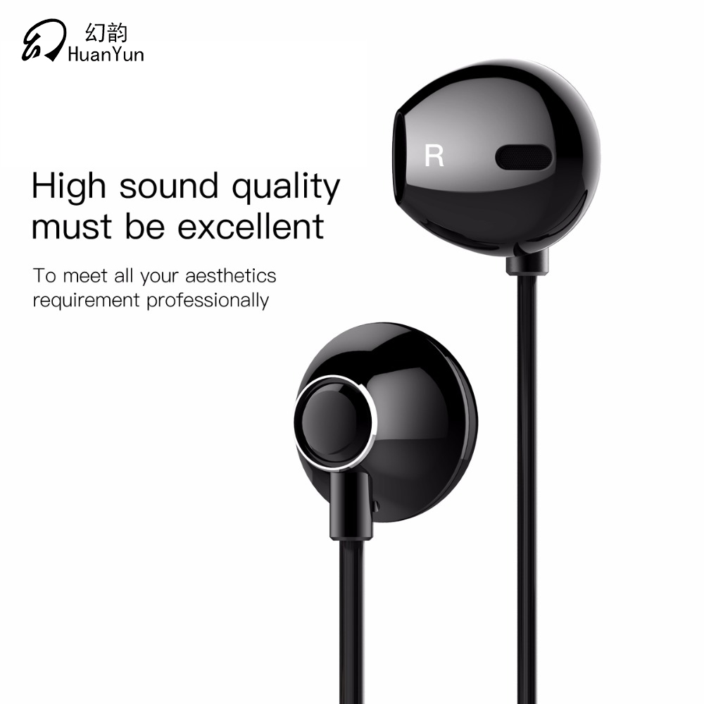 Metal Wired Earphones In-Ear Headsets Sport Stereo Earbuds for Iphone Samsung Huawei Xiaomi with Mic HD Music for Phone new usb temp temperature humidity datalogger data logger record meter 40 70c