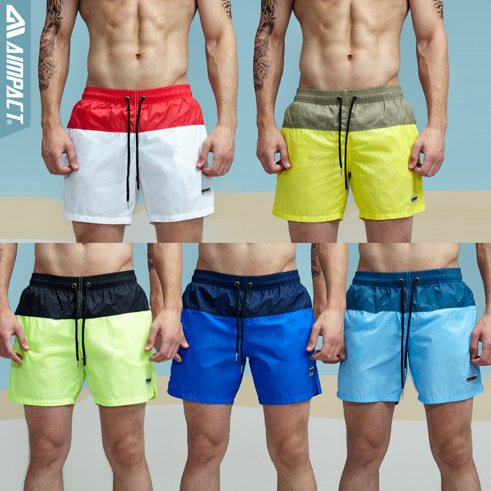 0cda73d777 Aimpact Fashion Summer Sexy Beach Men's Shorts Leisure Lining Liner Men  Board Shorts Patchwork Fast Dry Elastic Waist Short DT62-in Casual Shorts  from Men's ...