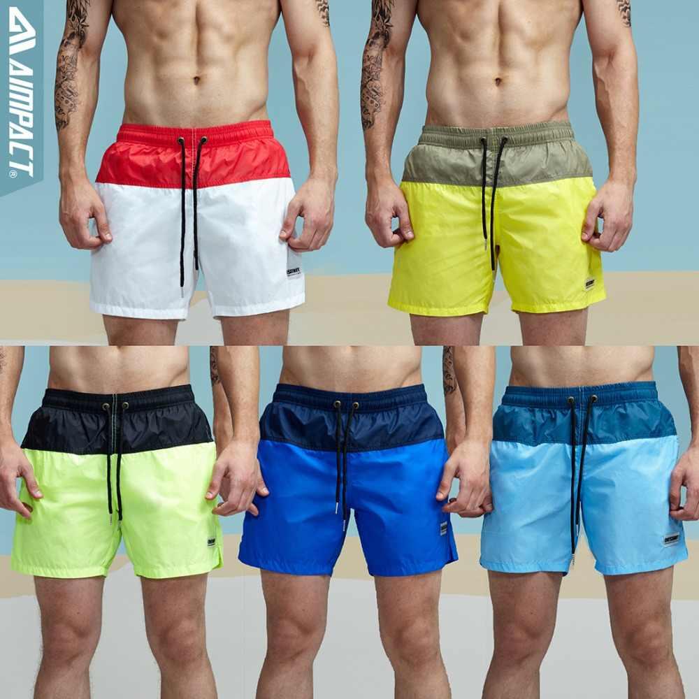 2e4f22ebd1f59 ... Aimpact модные летние пикантные пляжные Для мужчин шорты для отдыха  подкладка лайнер мужские пляжные шорты лоскутное ...