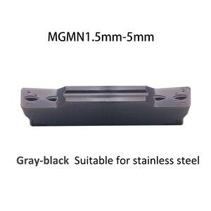 Image 2 - Einfügen MGMN150 MGMN200 MGMN250 MGMN 300 4mm 5mm PC9030 Hartmetall Einsätze Bearbeitung Edelstahl Einstechen Drehen Schneiden Werkzeug