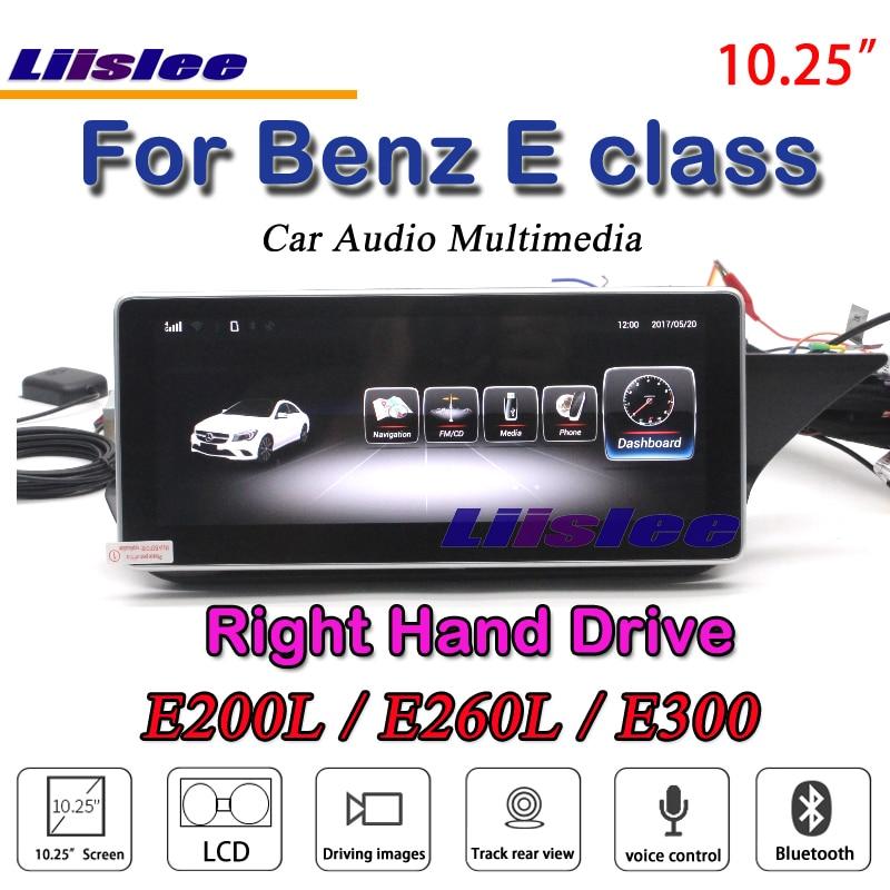 Liislee Voiture Pour Mercedes Benz Classe E E200L E260L E300 S212 W212 RHD Droite Radio Lecteur DVD Lecteur Stéréo GPS NAV Navigation