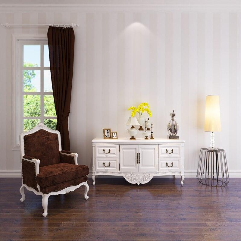 HANMERO Modern vinyl pvc creamy white home decor living room bedroom sofa tv backdrop striped 3d wallpaper wholesale QZ0102  цены