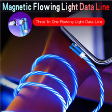 Magnetic Charging wire,90 Degree LED  Luminous Cable for iPhone X 8 7 6 Plus & Micro USB Type-C For Xiaomi