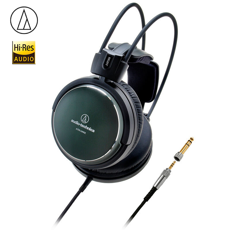 Original Audio-Technica A990Z Art Monitor Headsets HiFi Headphones Closed-Back Dynamic Professional Earphones Deep Bass Sound image