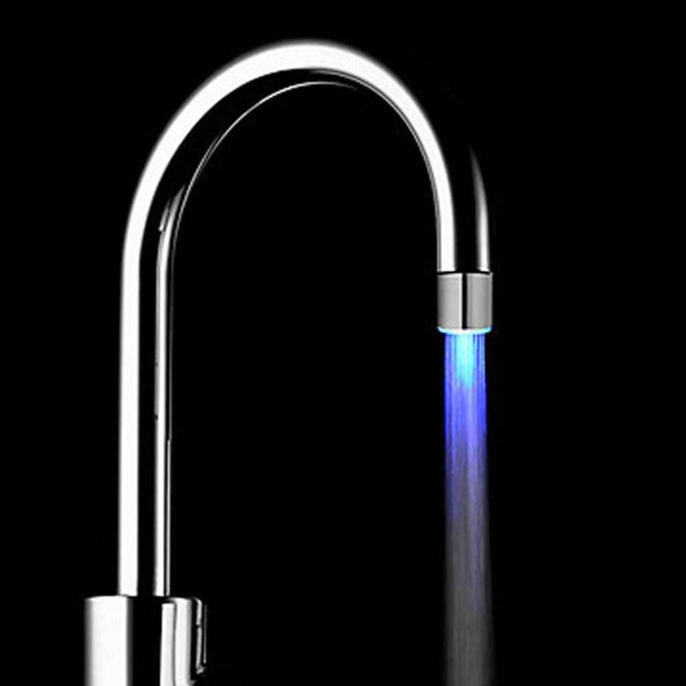 LED キッチン蛇口 Glow キッチンタップ torneira パラ cozinha 温度センサーライト水の蛇口の台所浴室グリフォ cocina の