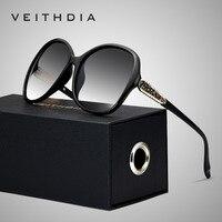 VEITHDIA Retro zonnebril Gepolariseerde Luxe Dames Merk Designer Vrouwen Zonnebril Eyewear oculos de sol feminino V3025