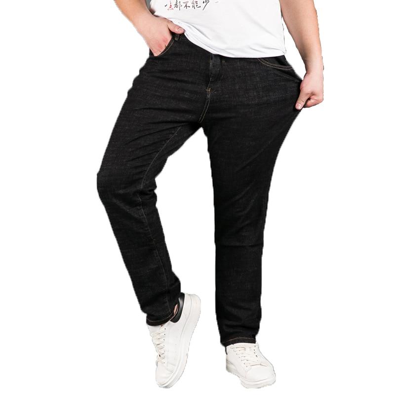 Stretch Men Business Jeans Classic Male Jeans Plus Size Baggy Straight Men Denim Pants Cotton Black Biker Jeans Male men cotton straight classic jeans blue baggy plus size spring autumn men s denim pants straight designer trousers male hlx137