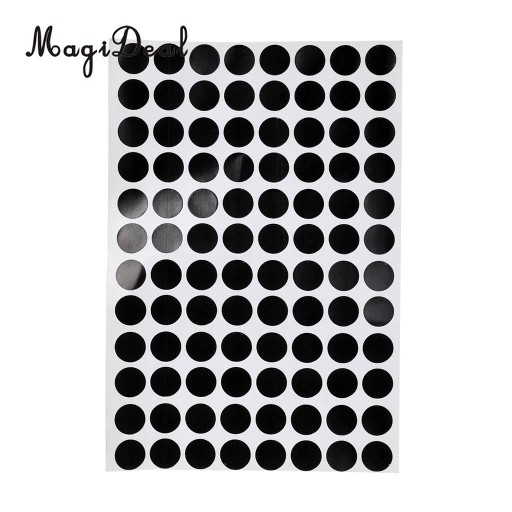 MagiDeal Set of 96Pcs 1.2cm Black Round Pool Table Spot Marking Stickers - Self Adhesive Indoor Game Snooker Stickers Accessory
