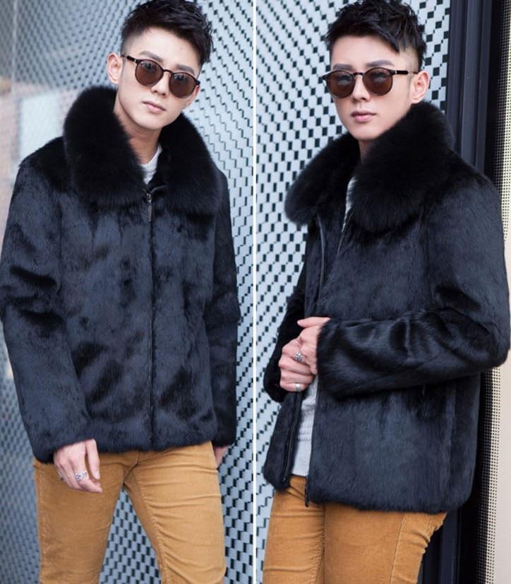 Nouvelle Rêve Imitation Manteau Coréenne Renard Marée Mode La Casual Hommes 2018 Fourrure De FourrureBlack Version Soupe Lapin Robe WeD2HYE9I