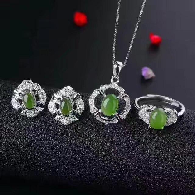 Green Jasper Earrings Semiprecious Stone Earrings by ...  |Green Jasper Jewelry