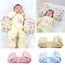 1 Piece Baby Comfortable Cotton Anti Roll Pillow Lovely Cartoon Pattern Printed Adjustable Newborn Shaping Pillow