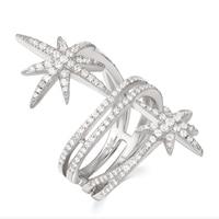 SKA Meteor Rings For Women Monaco Multi Ring Stars Jewelry 925 Sterling Silver Crystal Elegant Women Ring Drop Shipping A17080OX
