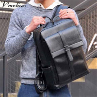 VMOHUO New Fashion Men's Backpacks for PU Leather Backpacks Male High Quality Travel USB Charge Computer Antitheft Backpack