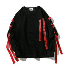 2019 Çok Şeritler O Boyun Kazak Hip Hop Tişörtü Streetwear Moda Dış Giyim Damla Nakliye LBZ46