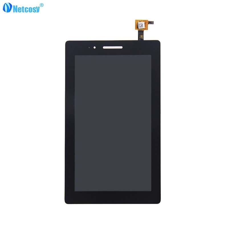 Netcosy Black Full screen for Lenovo Tab3 710 LCD Display Touch Screen Assembly For Lenovo Tab3-710 Tab3-710F LCD screen tought screen lenovo s820