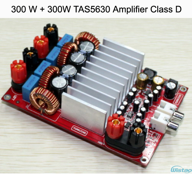 IWISTAO 300W+300W TAS5630 Amplifier Board Stereo Audio Class D Digital OPA1632 Preamp PCBA HIFI DIY iwistao 2x20w hifi amplifier stereo