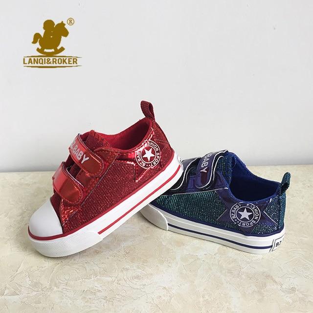 2016 fashion superstar bambini canvas shoes per la bambina glitter sequin sport sneakers neonato genitori vintage