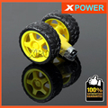 Envío libre 2 Sets Robot Neumático de La Rueda 6 V Motorreductor TT + TT motor Rueda De Goma de Los Neumáticos Set 1:48/1:120 Uniaxial Biaxial