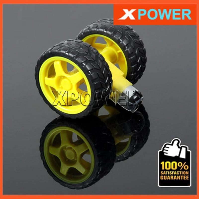 Free shipping 2 Sets Robot Wheel Tyre 6V TT Gear Motor+TT motor Wheel Rubber Tires Tyre Set 1:48/1:120 Uniaxial Biaxial laboratory cork borer sets rubber stopper one set