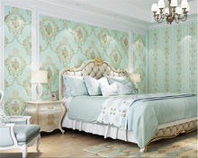 beibehang Three-dimensional living room fine pressure pastoral nonwoven personality American ab edition bedroom wallpaper behang
