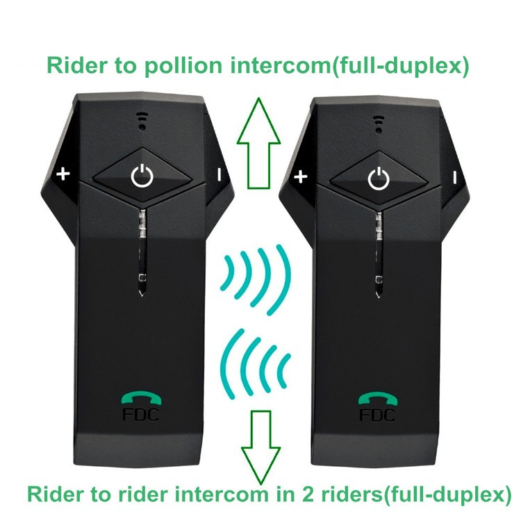 1PCS 1000m Motorbike Moto Helmet Bluetooth Intercom Stereo Headset Handsfree BT Interphone Earphones with NFC FM+Remote Control  (3)