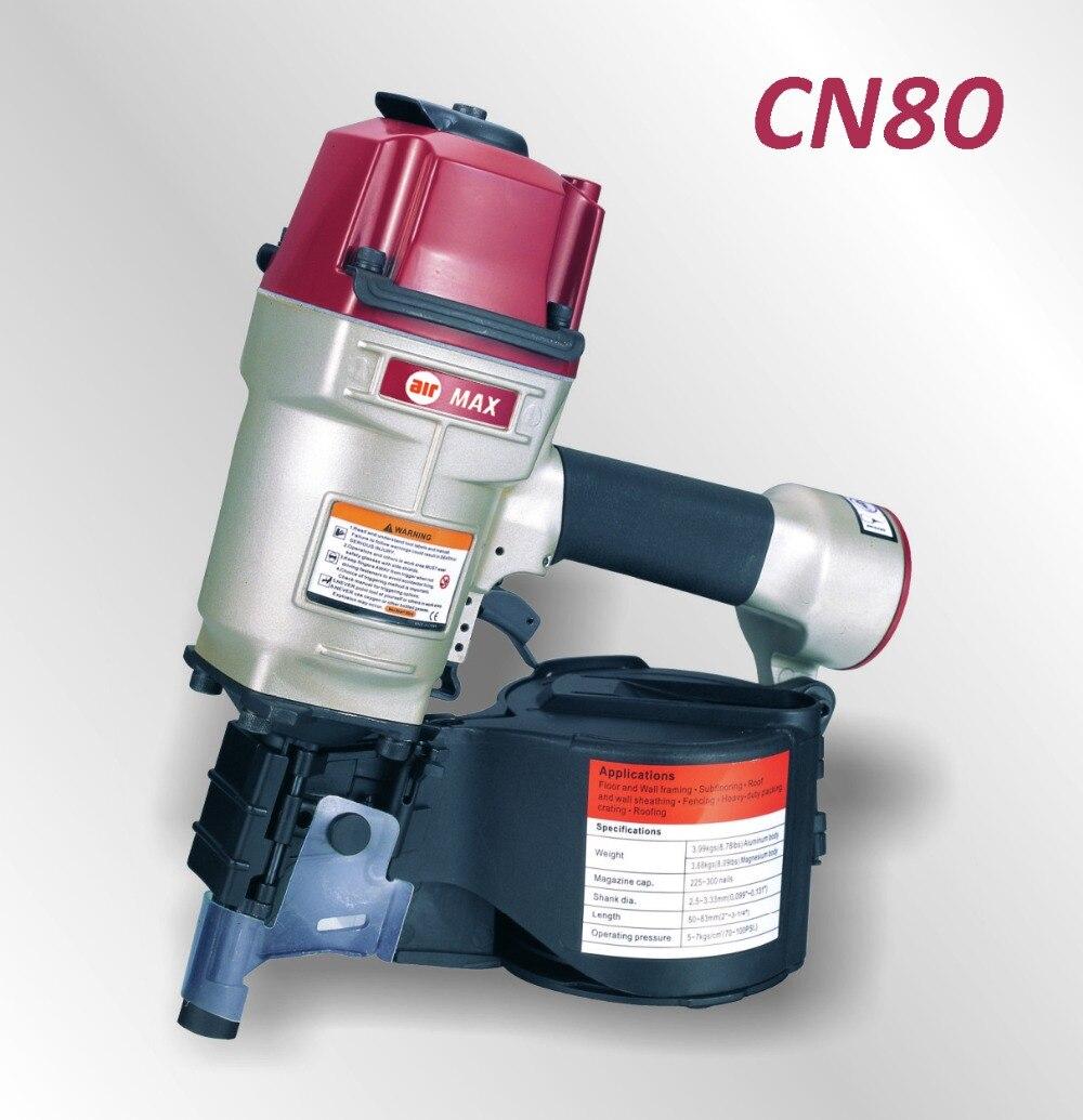INDUSTRIAL de AR CN80 COIL NAIL GUN (para não incluir o imposto da alfândega)