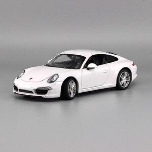 Image 5 - 1:24 סימולציה סגסוגת מכונית ספורט דגם עבור Porscheed 911 עם היגוי גלגל קדמי שליטת גלגל הגה צעצוע לילדים