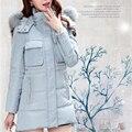 Chaqueta de invierno Mujeres 2016 Nueva Moda Largo de Piel Para Mujer Chaquetas de Invierno Y Abrigos Más El Tamaño A009