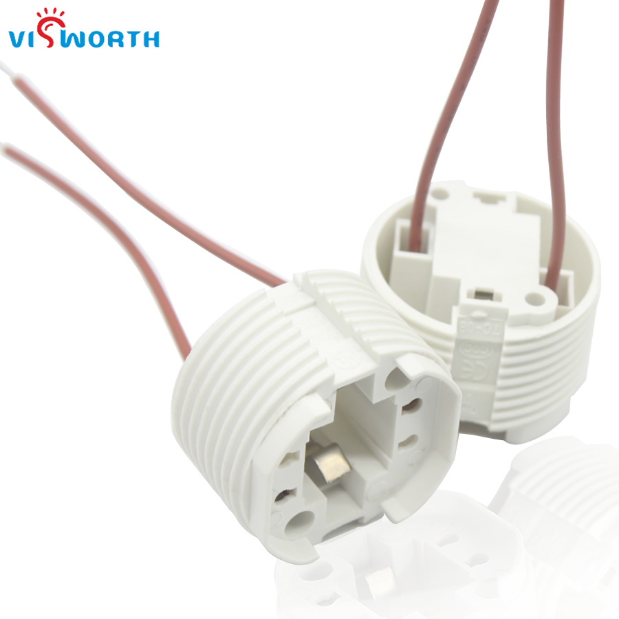 VisWorth 3A 220V G24 Socket Base Led Lamp Adapter Converter Holder 2Pin With Wire For Led Light