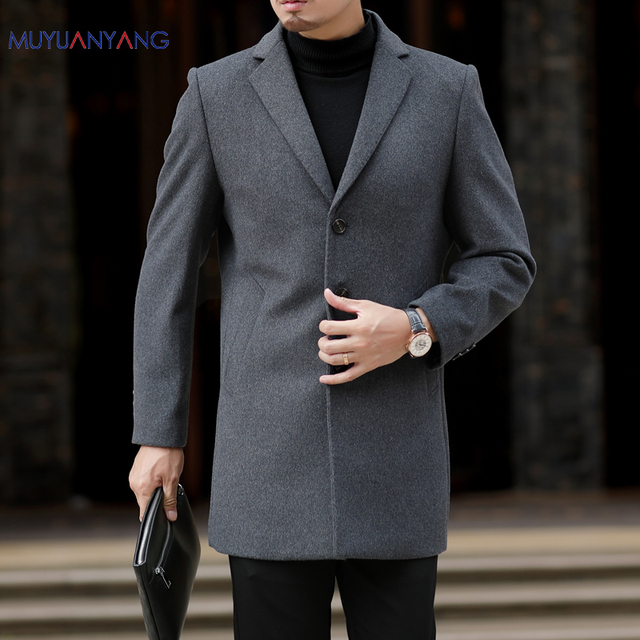 Му юань ян осень и зима для мужчин Шерсть и смеси повседневное s шерстяные куртки большой размеры XXXL XXXXL