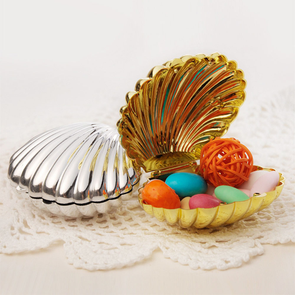 Shell Shape Wedding Candies Box Plastic Happy Event Favor Boxes Candy Chocolate Storage Wedding Table Boxes DecorationsShell Shape Wedding Candies Box Plastic Happy Event Favor Boxes Candy Chocolate Storage Wedding Table Boxes Decorations