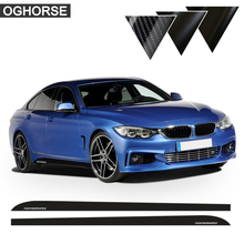 5D Carbon Fibre Vinyl 2016 New Logo M Performance body garland sticker for BMW 3 5 Series F30/10 320i 520i E60 Side Skirt Decals 2pieces skirt sill side skirt decals stickers for bmw x5 f15 f85 2014 2016 racing stripe m performance sticker 5d carbon fibre