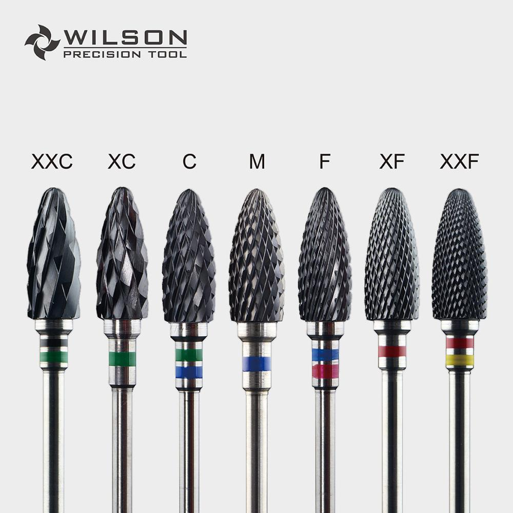 Bullet Shape - 6.0mm - Cross Cut - Black Zirconia Ceramic Dental Lab Burrs - WILSON PRECISION TOOLBullet Shape - 6.0mm - Cross Cut - Black Zirconia Ceramic Dental Lab Burrs - WILSON PRECISION TOOL
