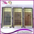 Sobrancelha Extensão Comprimento Mix Eu Enrolar 5 bandejas/lote, preto, Marrom Escuro, Med Marrom, Marrom Claro, Cor Dourada Disponível