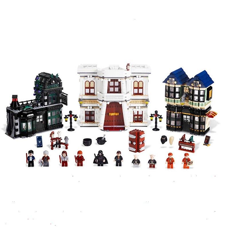 WAZ Compatible Legoe harry potter movie Series 10217 Lepin 16012 2025pcs Diagonal Alley building blocks bricks toys for children ручка телескопическая mg tr 82f truper 16012